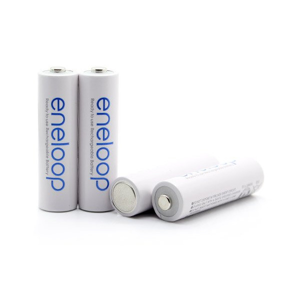 eneloop 4 Pack AA, Ni-MH Pre-Charged Rechargeable Batteries