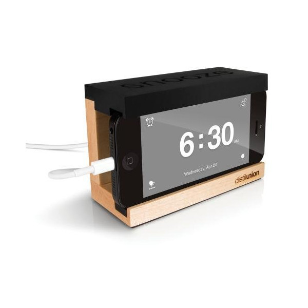 Distil Union - Snooze Alarm Dock for iPhone 4/5 - Black