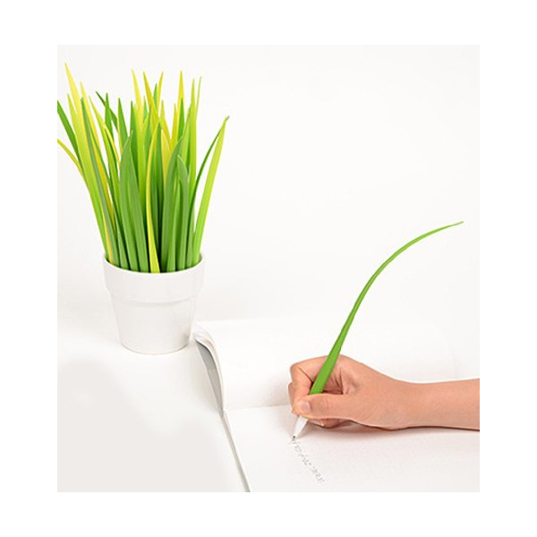 Grass Leaf Pen Yellow Green Light (Set of 3)