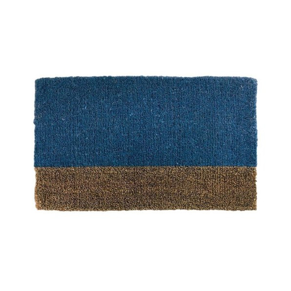 Two Tone Blue Welcome Doormat