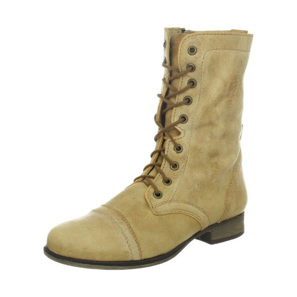 Steve Madden Women's Troopa Boot,Camel Leather,10 M US