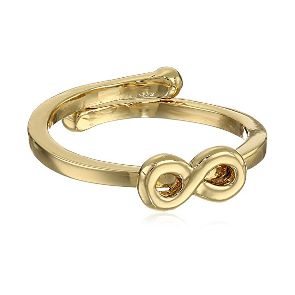 "kate spade new york ""Things We Love"" Infinity Gold Adjustable Ring, Size 5-7"