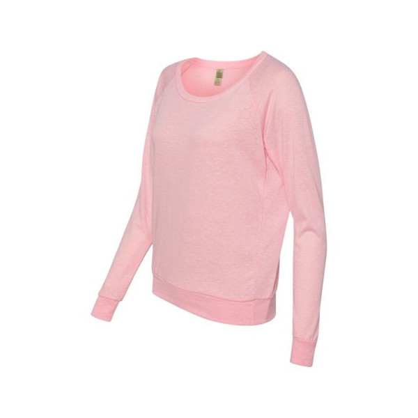 Ladies Eco-Jersey Slouchy Pullover, Pink Medium