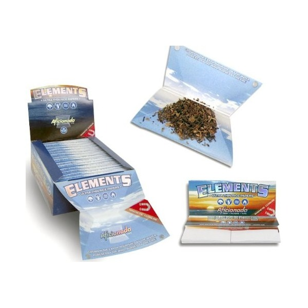 5 Elements Aficionado Thin Rolling Papers w/ Filter Tips