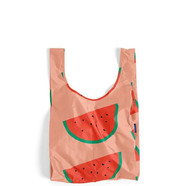 BAGGU Reusable Shopping Bag, Peach Watermelon