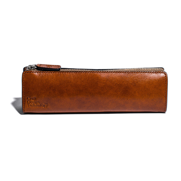 Craft Design Technology Leather Pen Case, Cinnamon