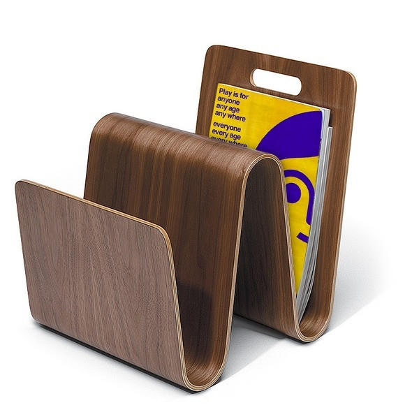 Offi Molded Ply W Magazine Stand in Walnut