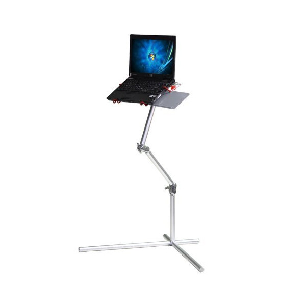 Koolertron New Silver Aluminum Nottable Laptop Universal 360 degrees Adjustable Stand foldable stand With mouse Pad Desk Table,fis for 10-17 inch laptop with maximum weight up to 10kg