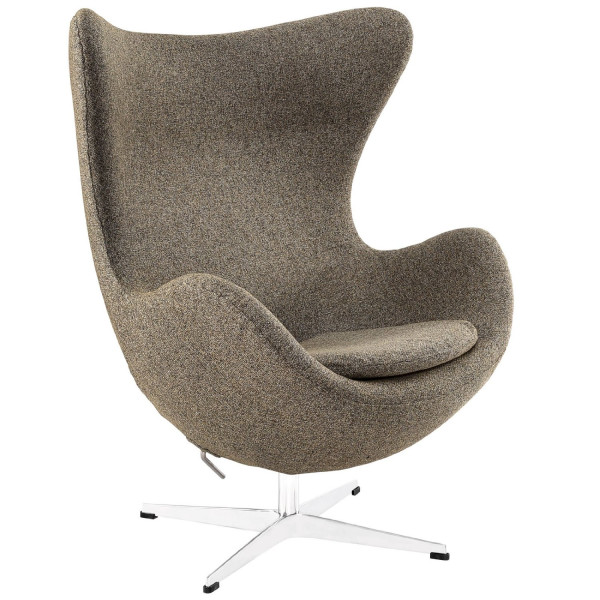 Glove Wool Lounge Chair in Oatmeal