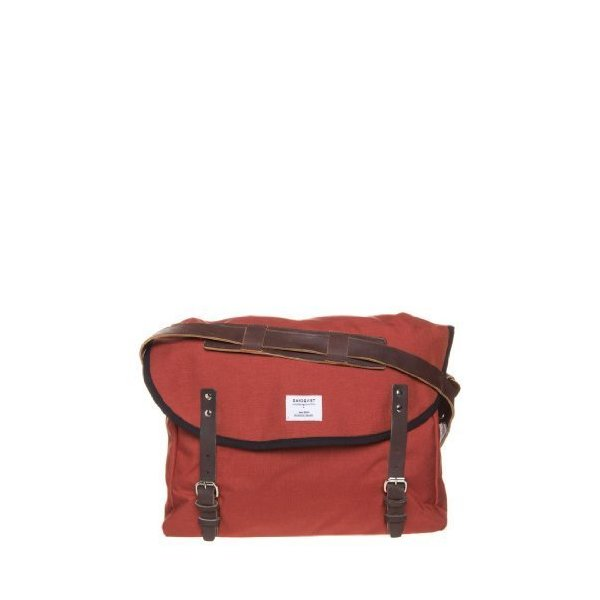 Sandqvist Erik Condura Red Laptop Bag - Red W Dark Brown Leather by Sandqvist