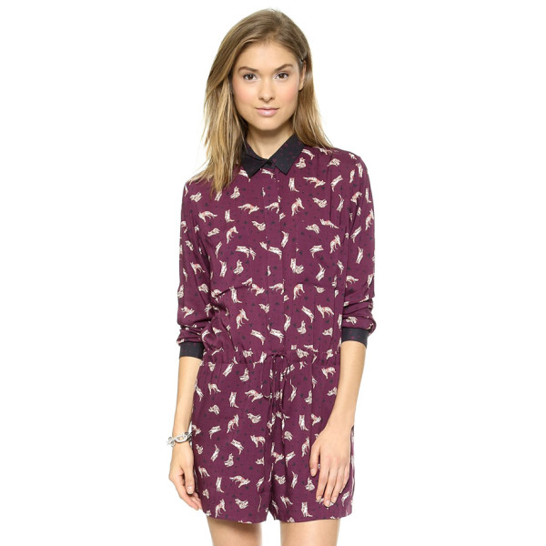 Paul & Joe Sister Women's Scarefox Romper, Bordeaux