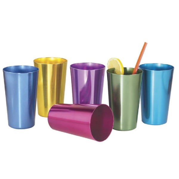 Set of Six Anodized Aluminum Tumblers