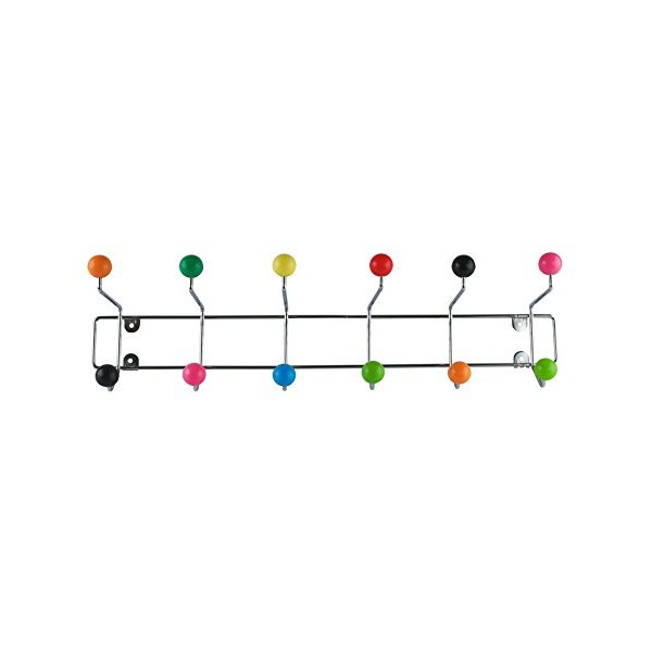 Present Time Saturnus Hat Rack with Assorted Colored Plastic Balls, X-Large