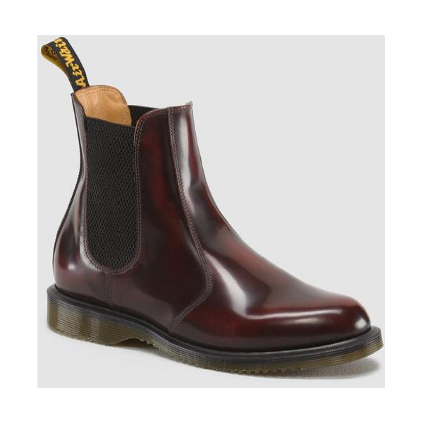 Dr. Martens Womens FLORA Chelsea Boot. Color-Style: Cherry Red. UK Size: 6