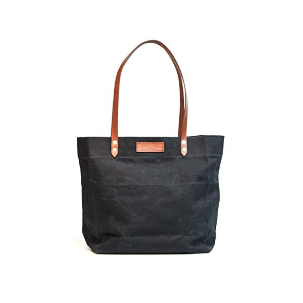 Market Tote - Waxed Canvas - Black