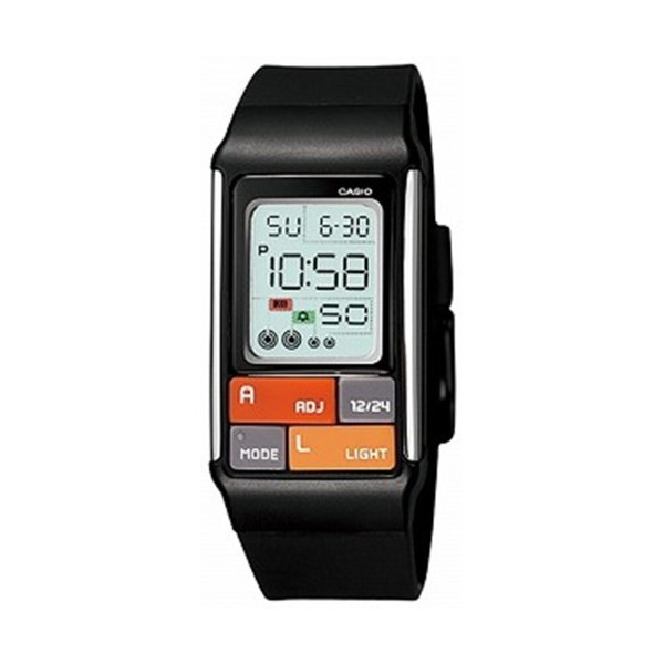 Casio Women's LDF50-1CF Pop Tone Black Digital Watch
