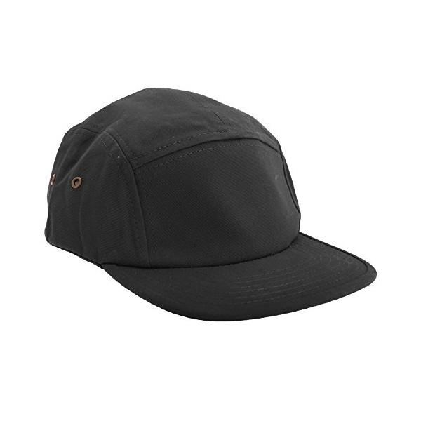 Beechfield Canvas 5 Panel Classic Baseball Cap (One Size) (Black)