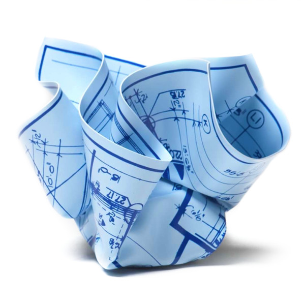 M&Co Architect Gift Blueprint Paperweight