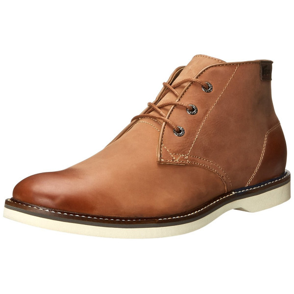 Lacoste Men's SHRBRKH 13 Chukka Boot, Tan, 12 M US