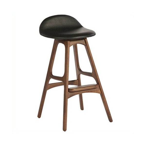 AEON Furniture Torbin-2 Barstools in Walnut and Black