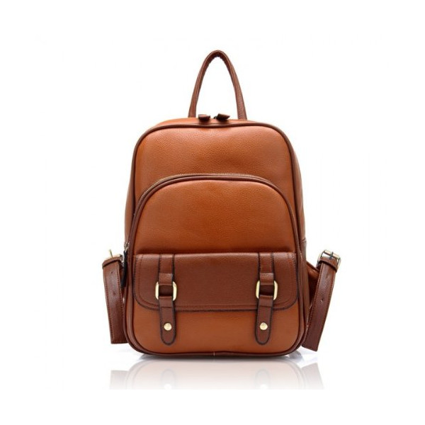 ZLCY Vintage Street Leather Backpack (brown)
