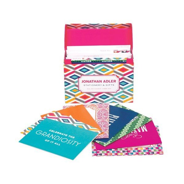 Jonathan Adler All Occasion Gift Note Card Box Set - Stepped Diamonds