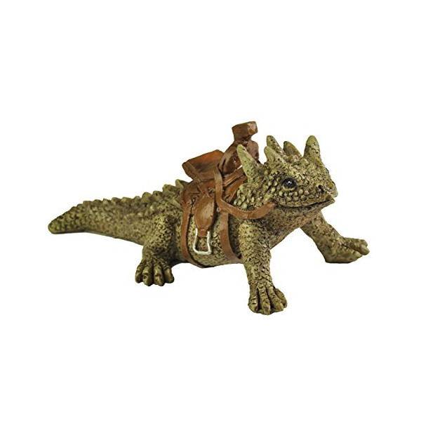 "Georgetown Home & Garden Miniature Horned Toad Lizard ""Spike"" with Saddle Garden Decor"