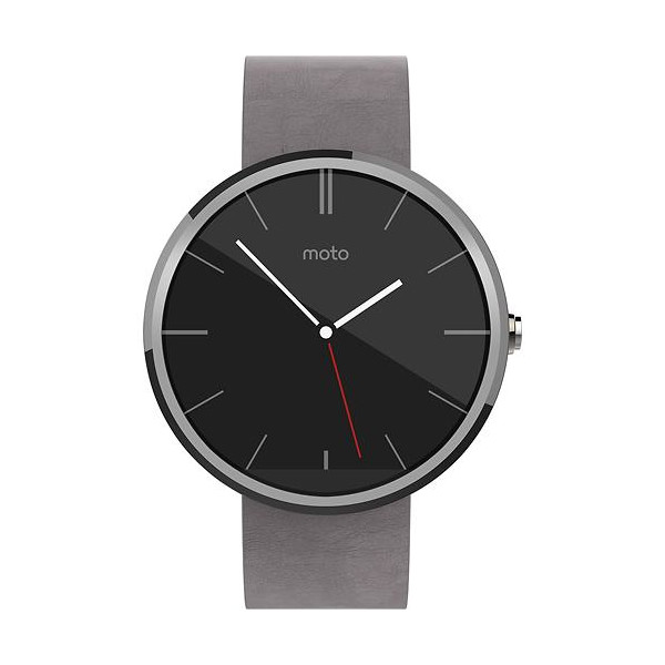 Motorola Moto 360, Stone Leather Smart Watch