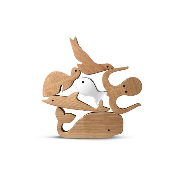 Georg Jensen Alfredo Aquamarine Toy Figures - 6 Pcs.