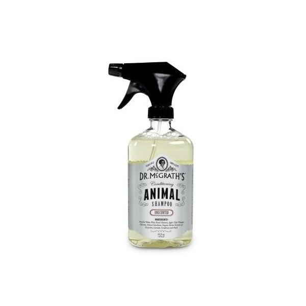 Dr. Mcgrath's Conditioning Animal Shampoo with Apple Cider Vinegar and Natural Cleansers, 500ml, Unscented