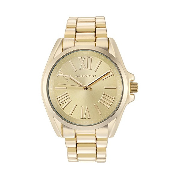 "Wristology Chunky Boyfriend ""Rachel"" Ladies Gold Watch Wristwatch for Women"