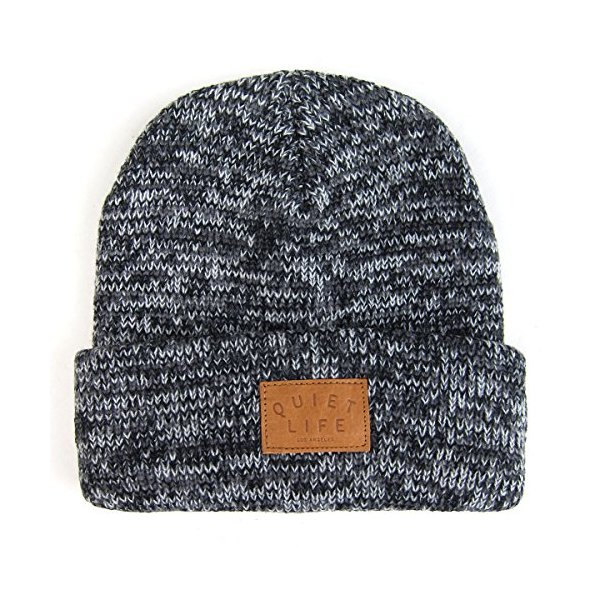 Quiet Life: Marled Beanie - Black / Grey