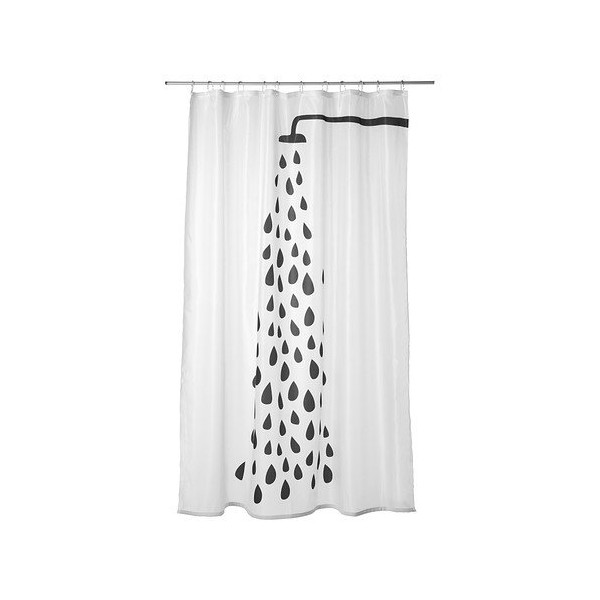 Ikea Tvingen Shower Curtain, White/Black
