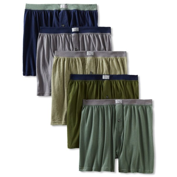 Fruit of the Loom Men's 5 Pack Soft Stretch Knit Boxer