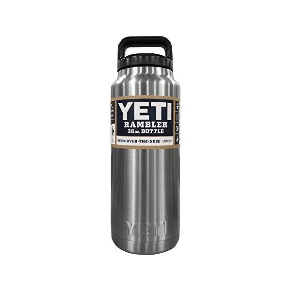 Yeti Rambler Bottle, Silver, 36 oz
