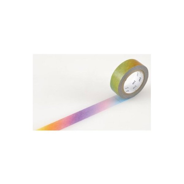 Japanese Washi Masking Tape - Rainbow Ombre Pattern