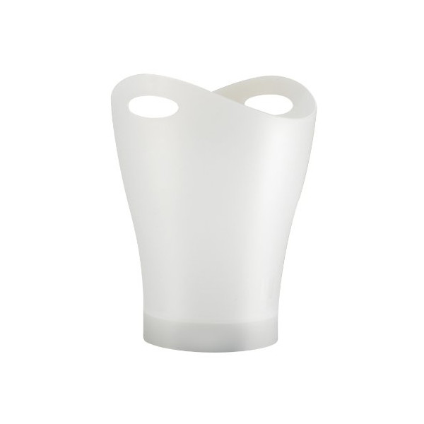 Umbra Garbino Polypropylene Waste Can, Translucent White