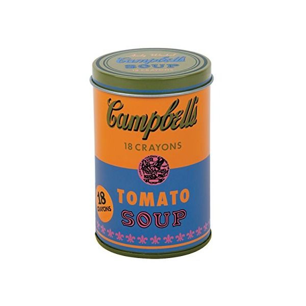 Mudpuppy Andy Warhol Soup Can Crayons, Orange