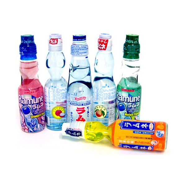 Ramune Japanese Soft Drink Mix Variety 6 Flavors 6 Bottles