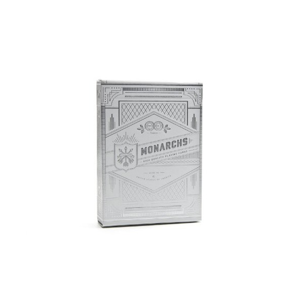 Theory11 Monarch Playing Cards, Silver, 3.5 X 2.5-Inch