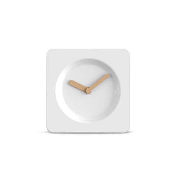 wall clock tile25 white