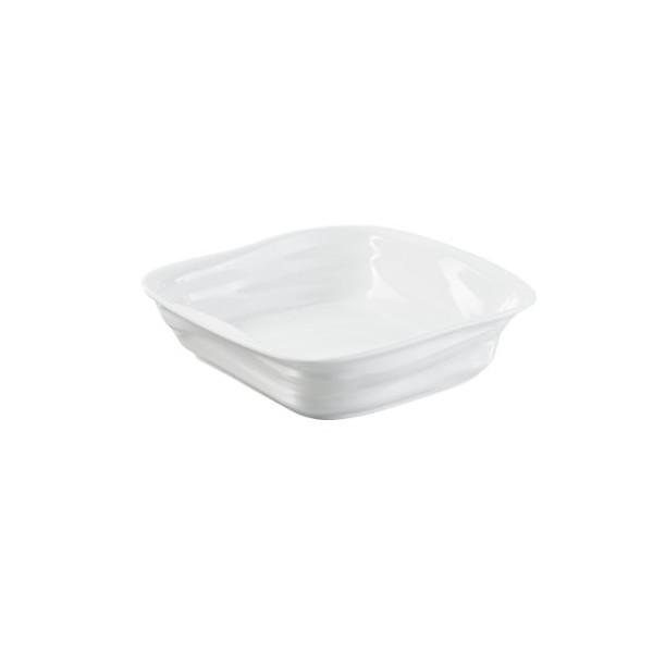 Revol 644800 Froisses Crumple Square Dish, 25cm, White