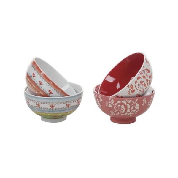 Set of 4 Ceramic Bowls in Gift Box