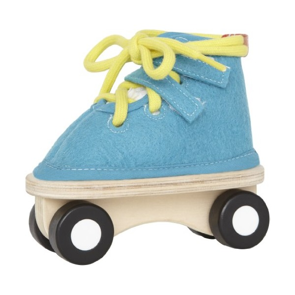 Hape - Lacing Skate in Blue Felt