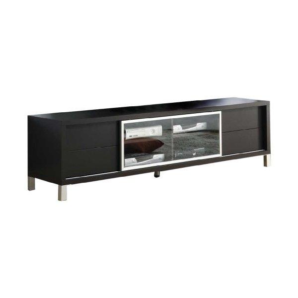 Monarch Specialties Cappuccino Hollow Core 70-Inch Euro TV Console