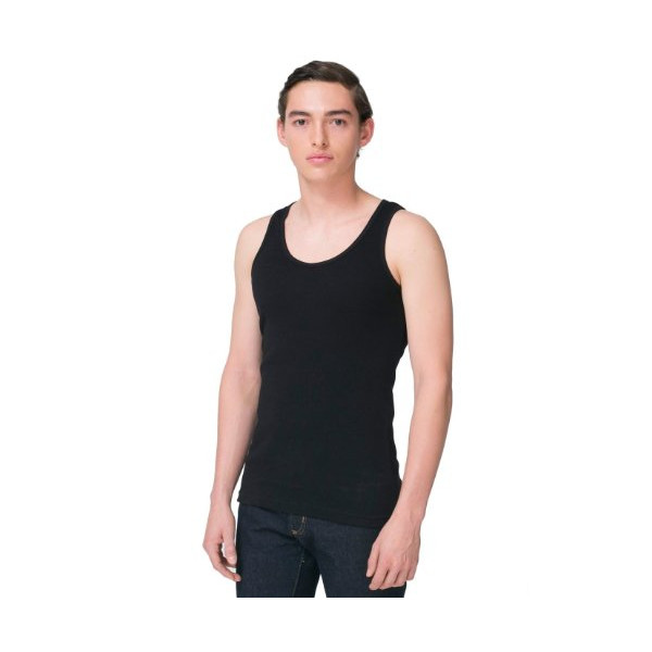 American Apparel Rib Tank Top - Black / M