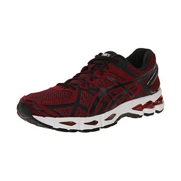 ASICS Men's Gel Kayano 21 Running Shoe, Deep Ruby/Black/Silver, 11.5 M US