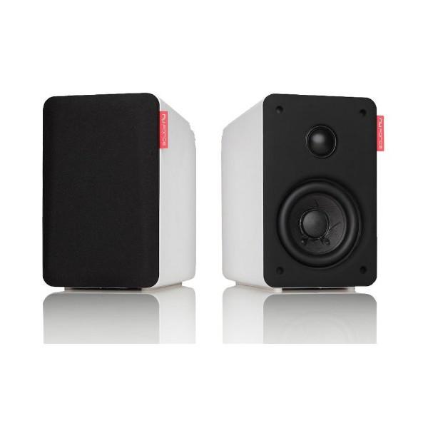 Nuforce S3BT-WHITE CD Quality Bluetooth Wireless Loudspeaker (White, 2)