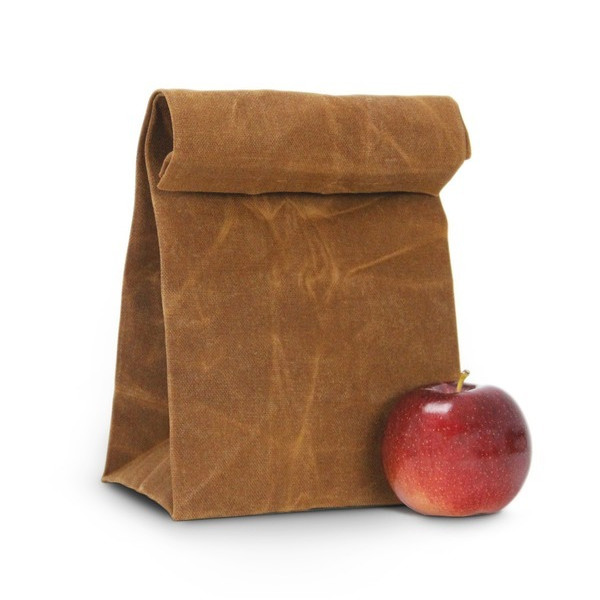 The Brown Bag - Waxed Canvas Reusable Lunch Bag / Lunch Tote