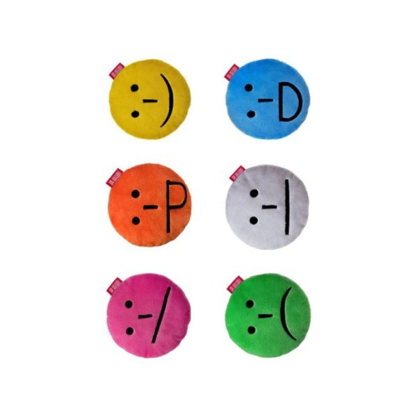International Ridibundus smiley pillows